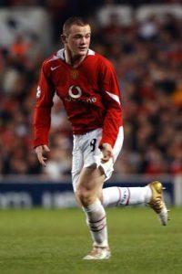 Rooney mencetak 3 angka pada saat pertandingan Liga Champions 2010.