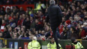 Luapan emosi Mourinho saat pertandingan melawan West Ham, Minggu 29 November 2016